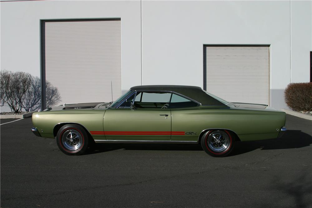 1968 PLYMOUTH HEMI GTX - Side Profile - 182455