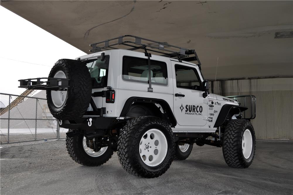 2012 JEEP WRANGLER CUSTOM SUV - Rear 3/4 - 182459
