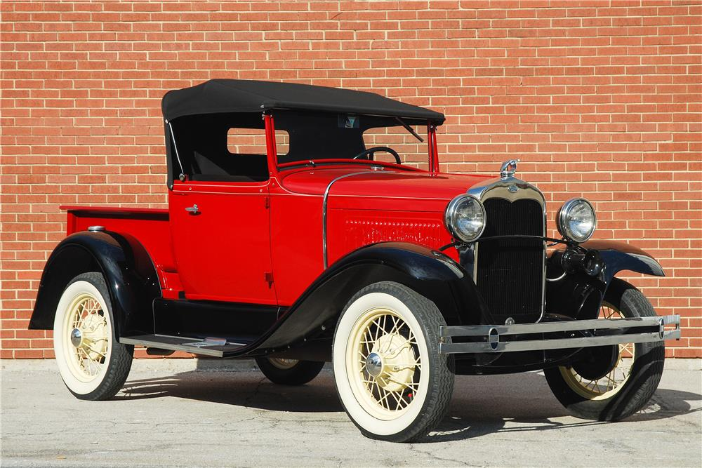 1930 FORD ROADSTER PICKUP - Front 3/4 - 182476