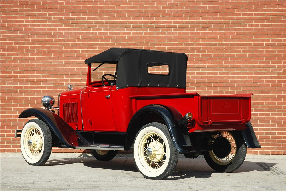 1930 FORD ROADSTER PICKUP - Rear 3/4 - 182476