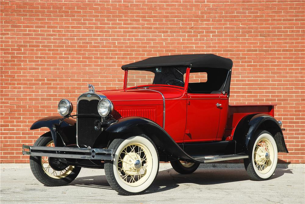 1930 FORD ROADSTER PICKUP - Side Profile - 182476
