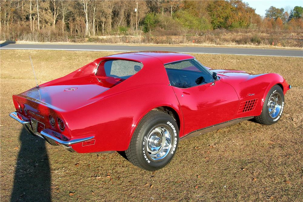 1971 CHEVROLET CORVETTE 2 DOOR COUPE - Rear 3/4 - 182481