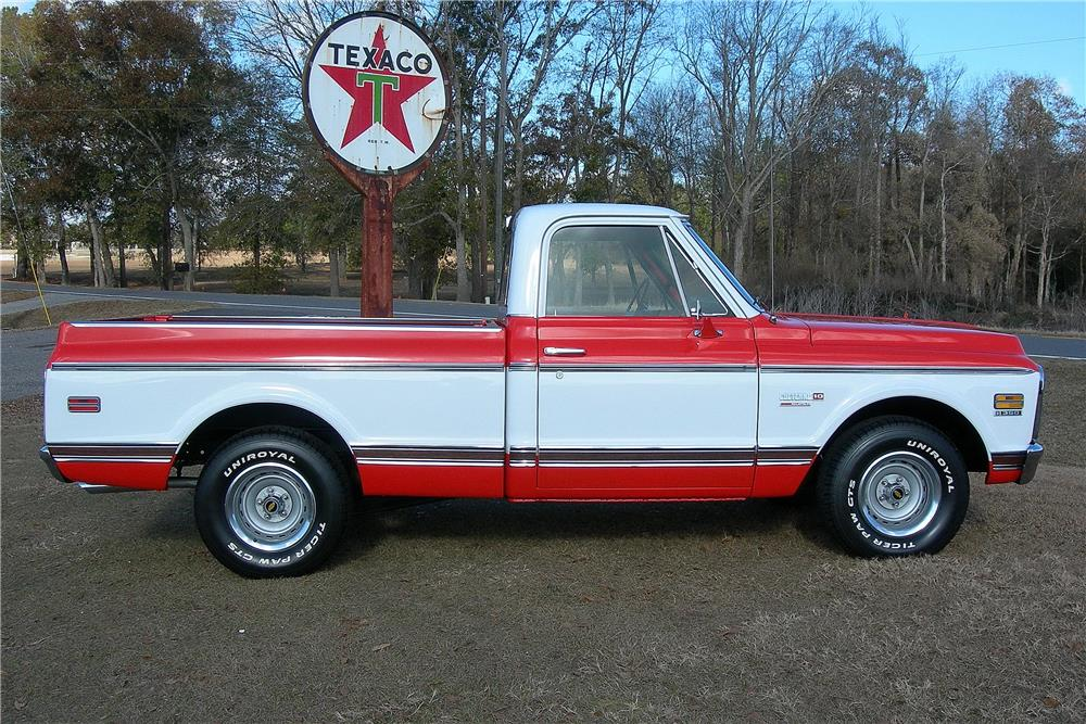 1972 CHEVROLET CHEYENNE SUPER 10 PICKUP - Side Profile - 182486
