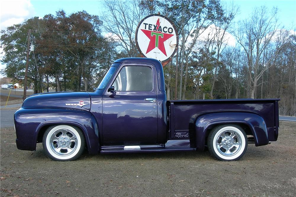 1954 FORD F-100 CUSTOM PICKUP - Side Profile - 182487