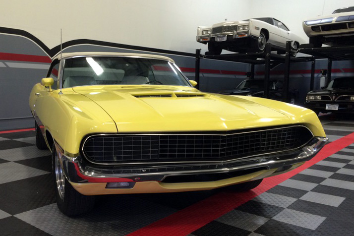 1970 FORD TORINO GT CONVERTIBLE - Front 3/4 - 182504
