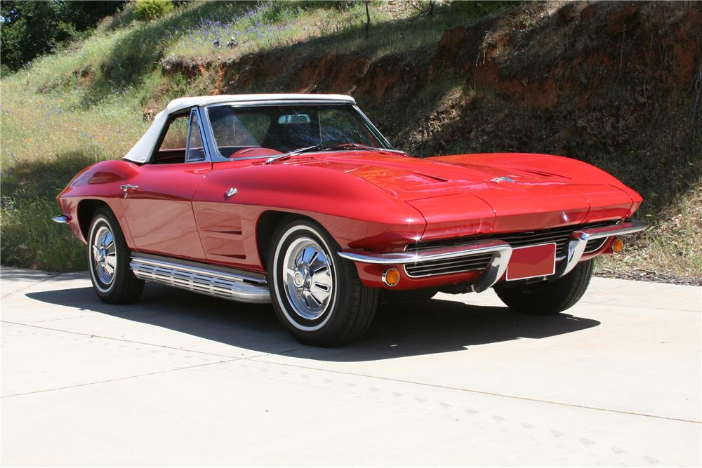 1964 CHEVROLET CORVETTE CONVERTIBLE - Front 3/4 - 182534
