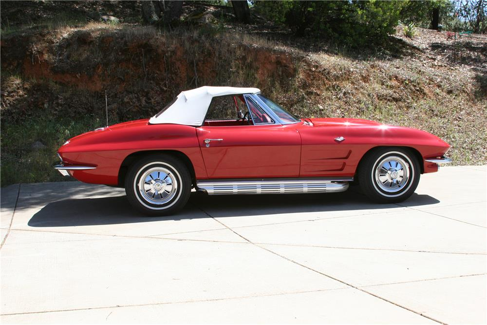 1964 CHEVROLET CORVETTE CONVERTIBLE - Side Profile - 182534