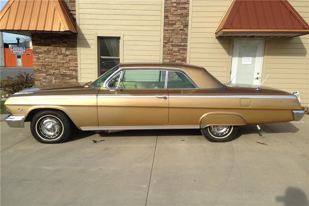 1962 CHEVROLET IMPALA SS 2 DOOR COUPE - Side Profile - 182548