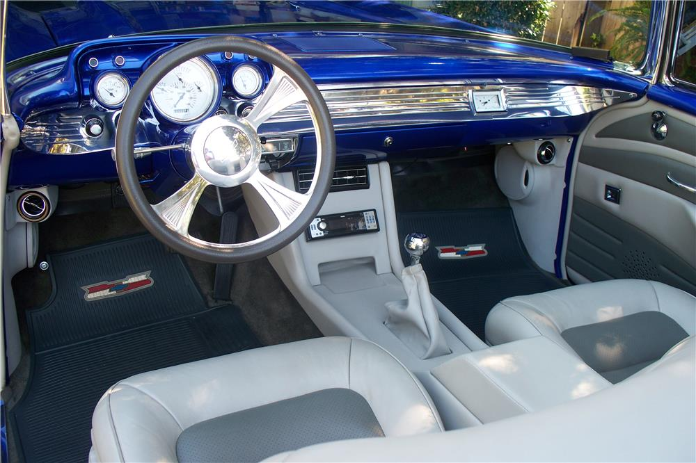 1957 CHEVROLET BEL AIR CUSTOM CONVERTIBLE - Interior - 182550
