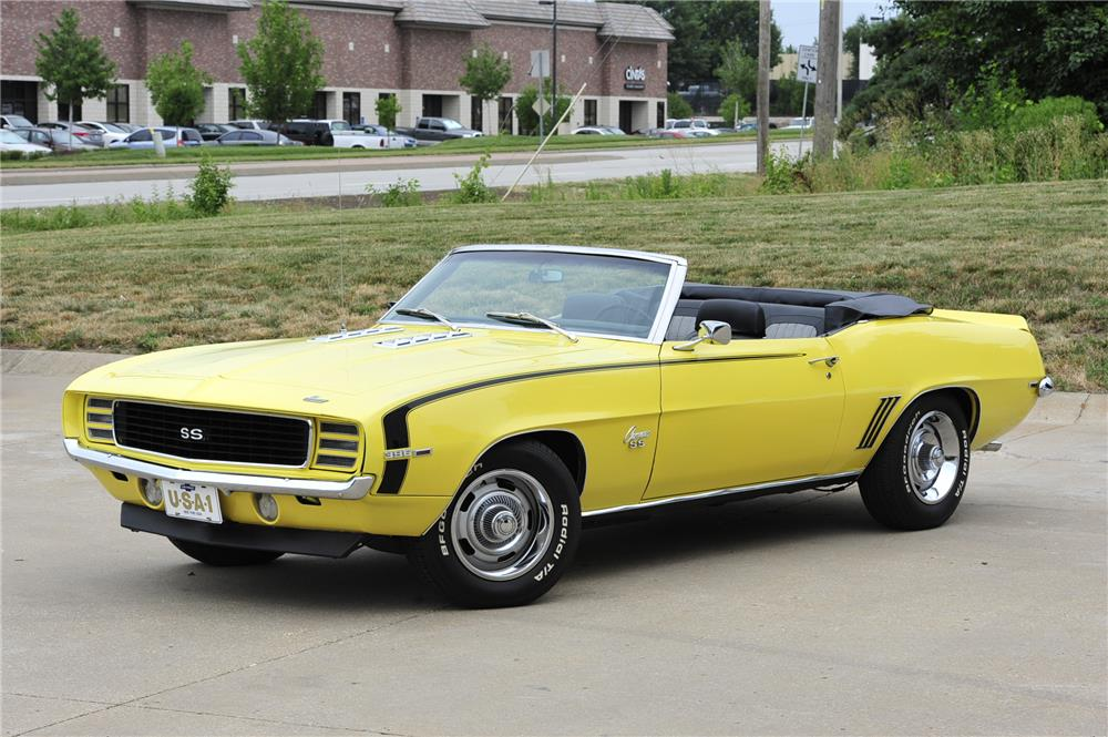 1969 chevrolet camaro convertible front 3 4 182557. Cars Review. Best American Auto & Cars Review