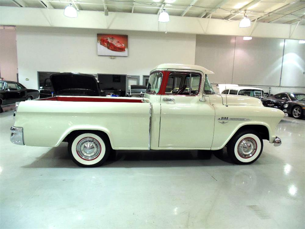 1955 CHEVROLET CAMEO PICKUP - Side Profile - 182600