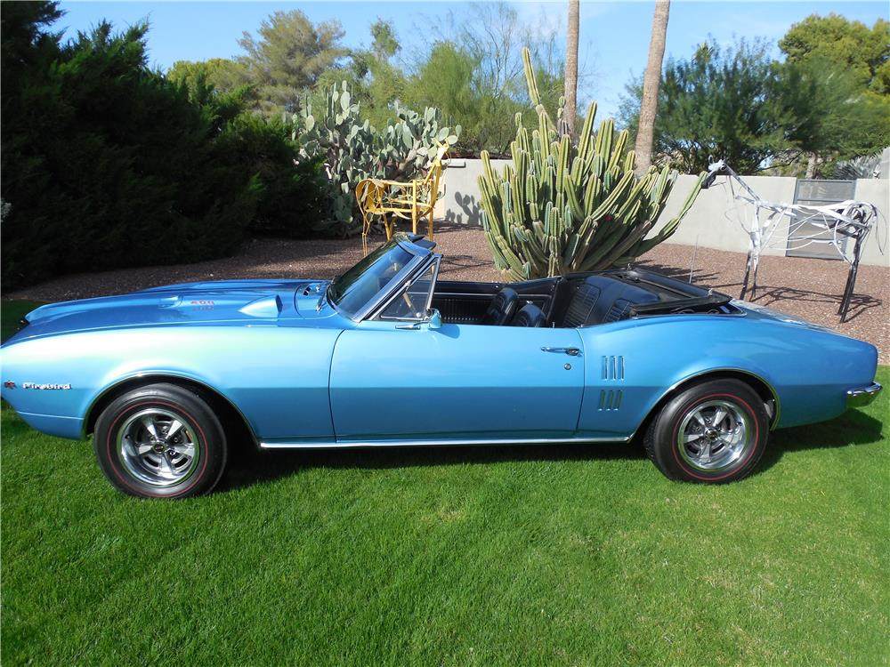 1967 PONTIAC FIREBIRD 400 CONVERTIBLE - Side Profile - 182617