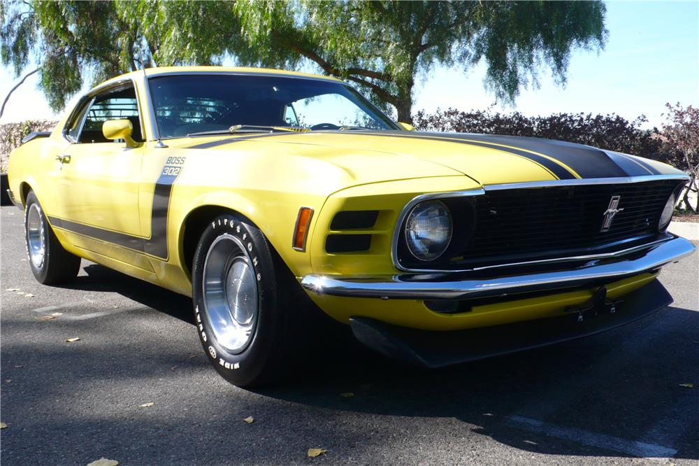 1970 FORD MUSTANG BOSS 302 FASTBACK - Front 3/4 - 182657
