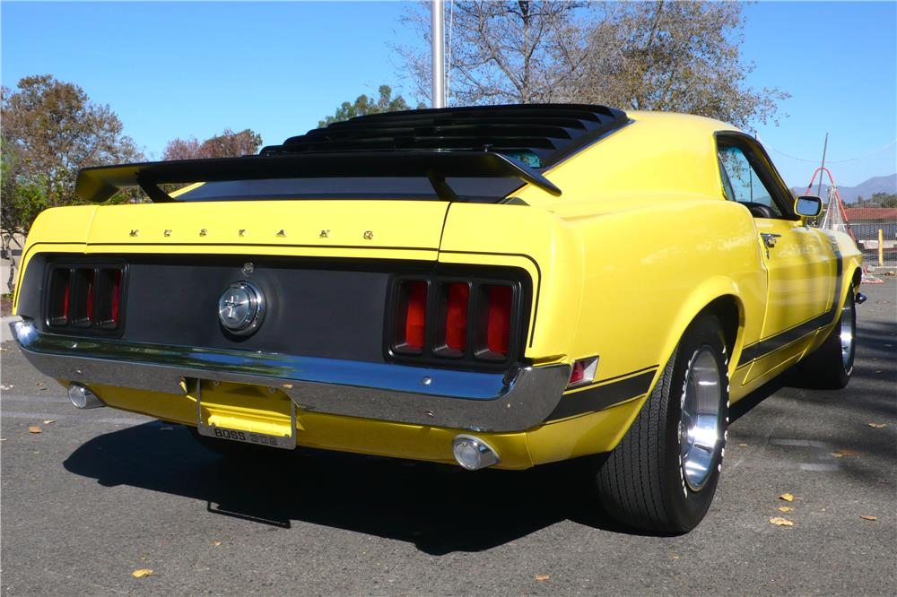 1970 FORD MUSTANG BOSS 302 FASTBACK - Rear 3/4 - 182657