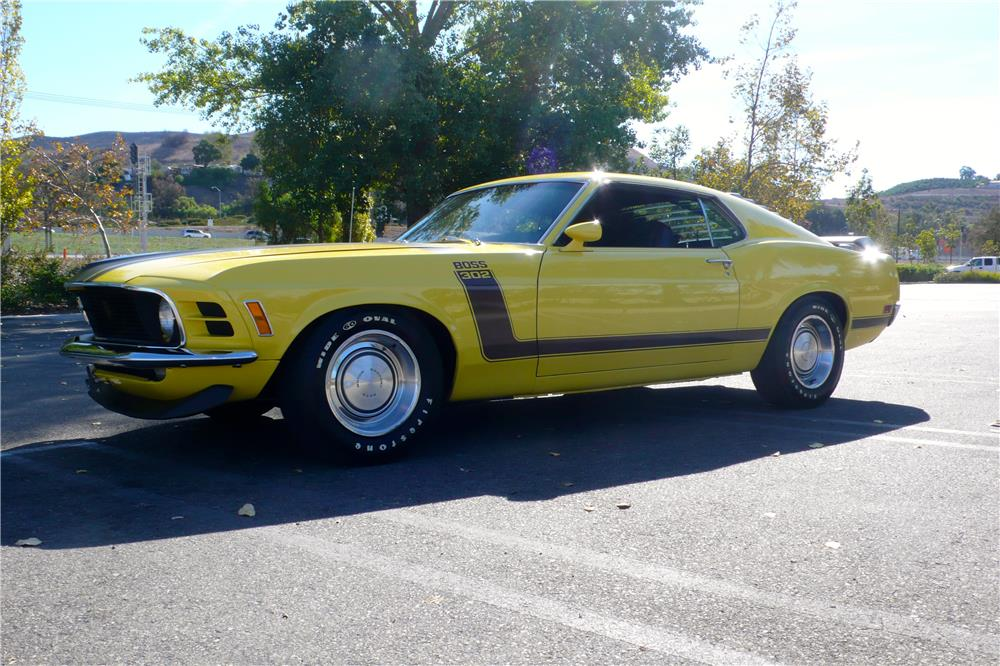 1970 FORD MUSTANG BOSS 302 FASTBACK - Side Profile - 182657