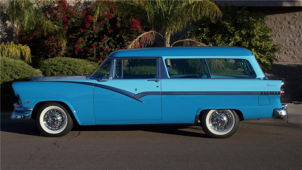 1956 FORD PARKLANE 2 DOOR WAGON - Side Profile - 182660