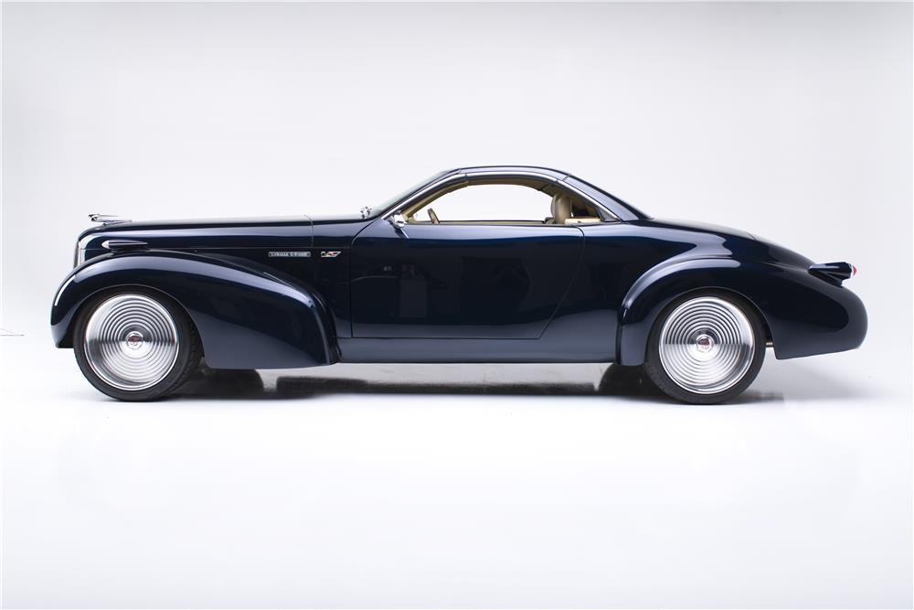 1939 CADILLAC LA SALLE C-HAWK CUSTOM HARDTOP ROADSTER - Side Profile - 182685