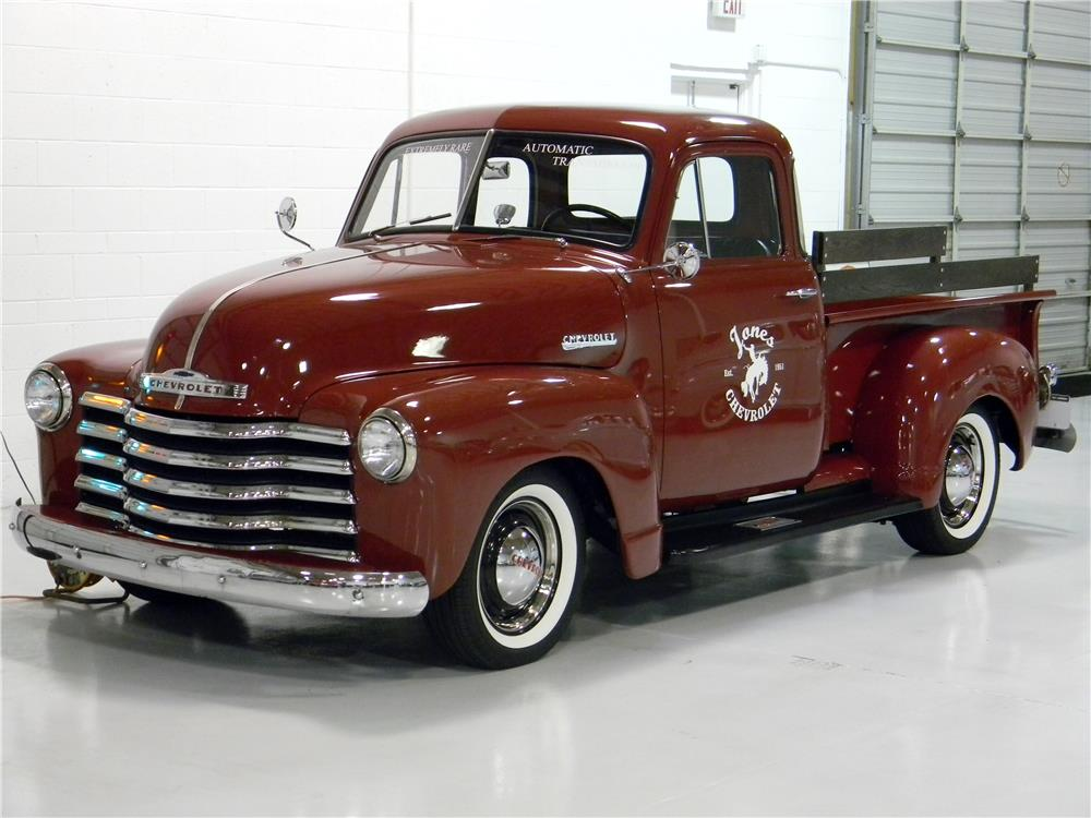1951 CHEVROLET 5 WINDOW PICKUP - Front 3/4 - 182865