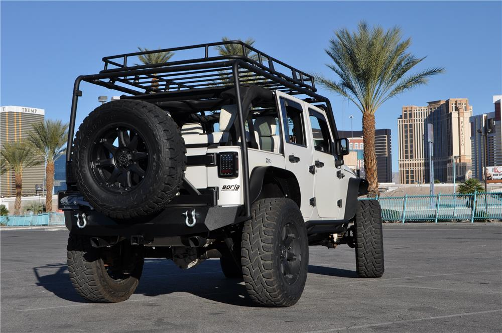 2011 JEEP WRANGLER UNLIMITED CUSTOM SUV - Rear 3/4 - 182945