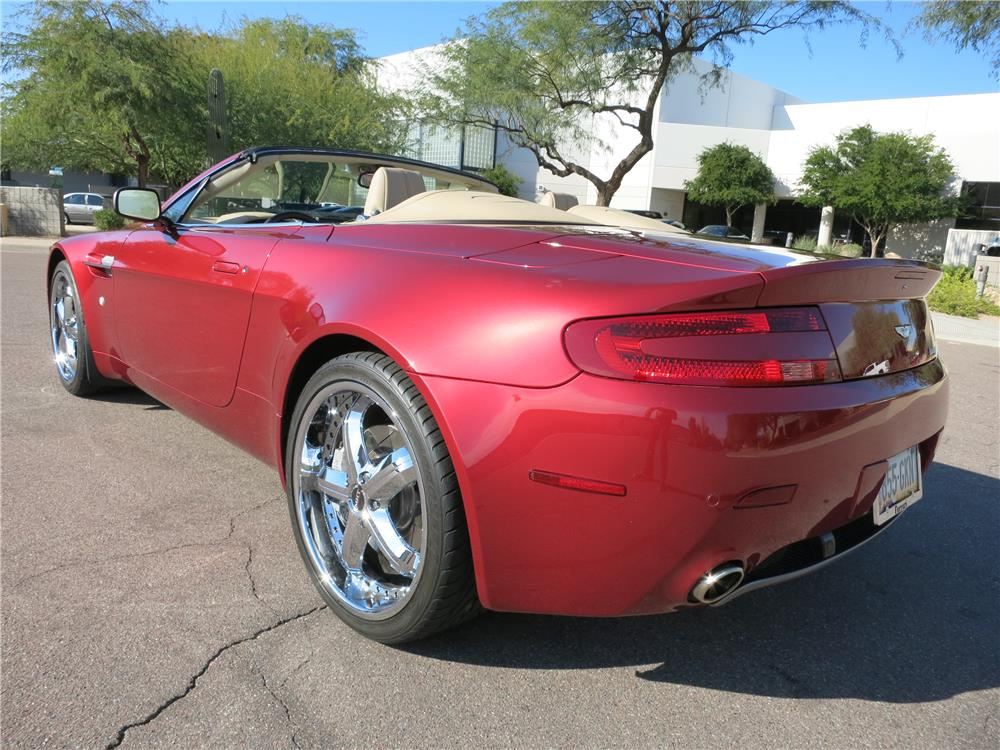 2008 ASTON MARTIN VANTAGE CONVERTIBLE - Rear 3/4 - 183332