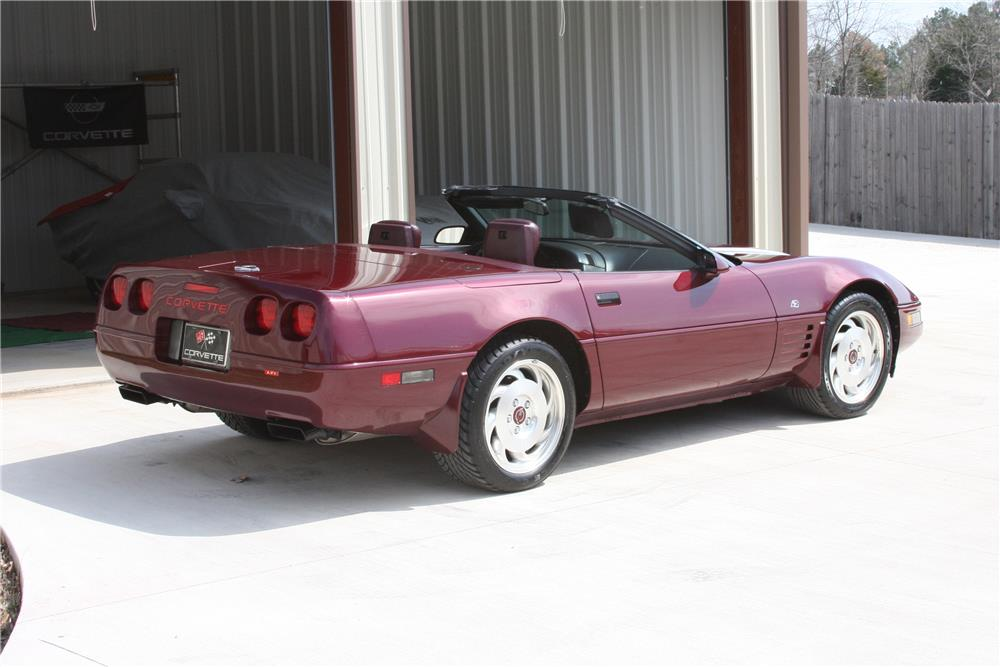 1993 CHEVROLET CORVETTE CONVERTIBLE - Front 3/4 - 183854