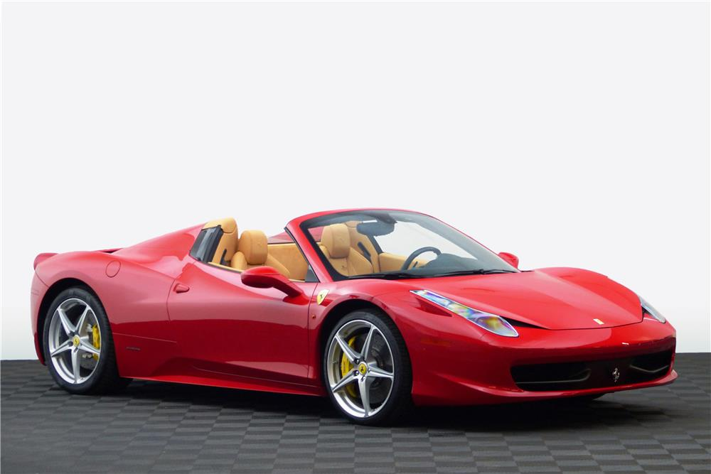 2012 ferrari 458 spider 183891. Black Bedroom Furniture Sets. Home Design Ideas