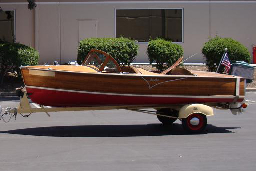 1957 PENNYAN ARISTOCRAT WOOD BOAT - Side Profile - 183938