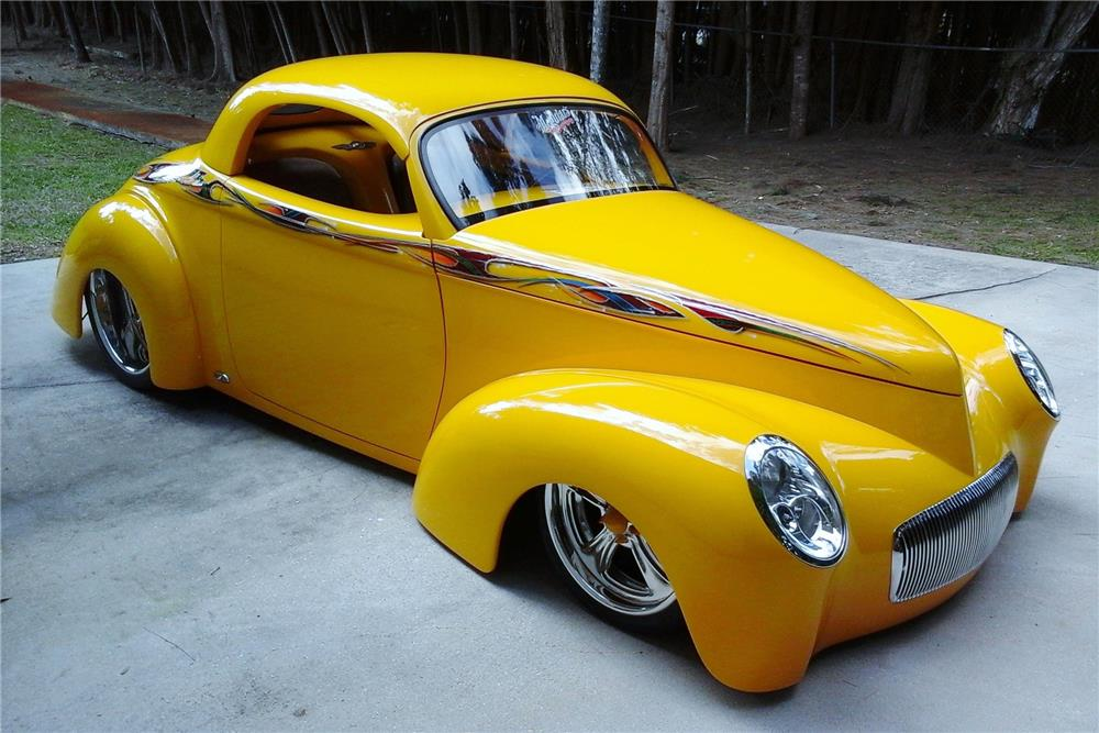 """1941 WILLYS """"SWOOPSTER"""" CUSTOM CONVERTIBLE - Front 3/4 - 183959"""