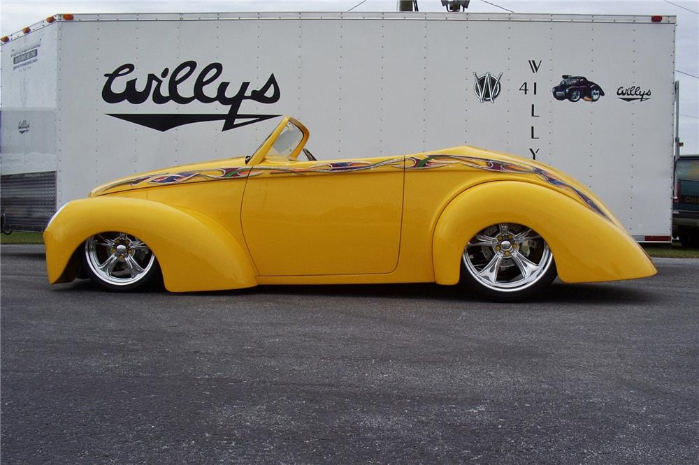 """1941 WILLYS """"SWOOPSTER"""" CUSTOM CONVERTIBLE - Side Profile - 183959"""