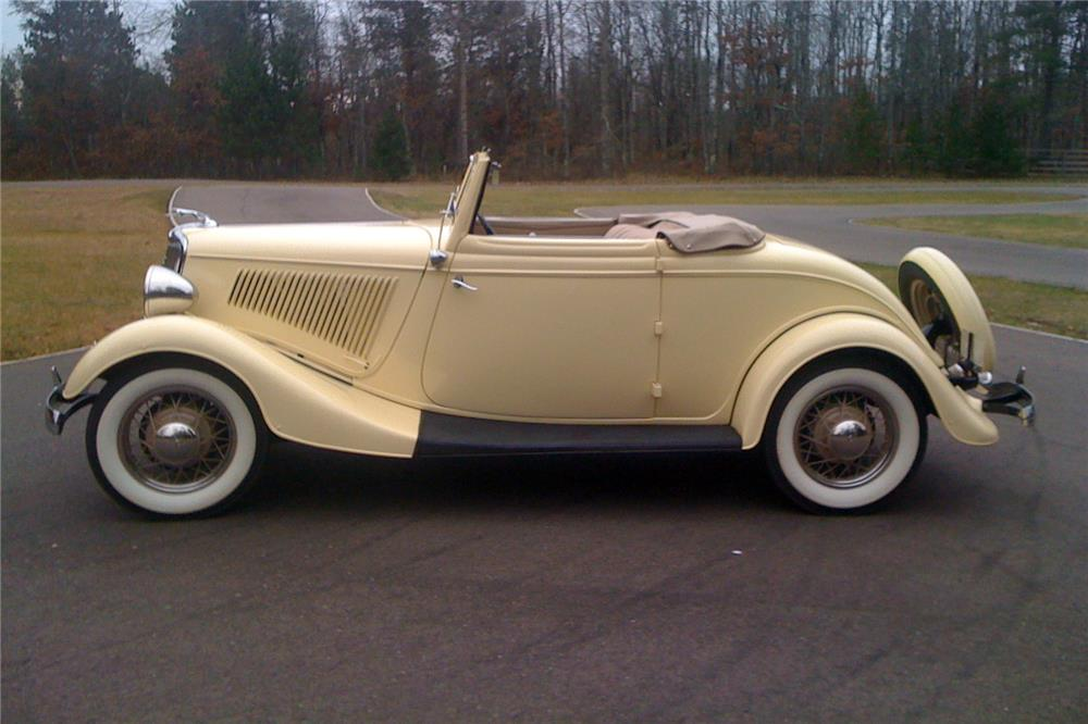 1934 FORD CABRIOLET - Side Profile - 183963