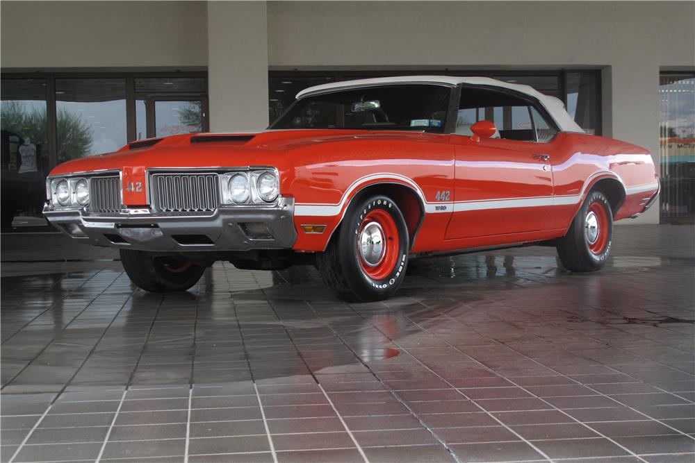 1970 OLDSMOBILE 442 W30 CONVERTIBLE - Front 3/4 - 183993