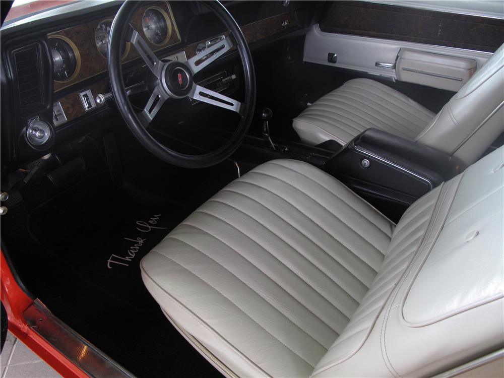 1970 OLDSMOBILE 442 W30 CONVERTIBLE - Interior - 183993