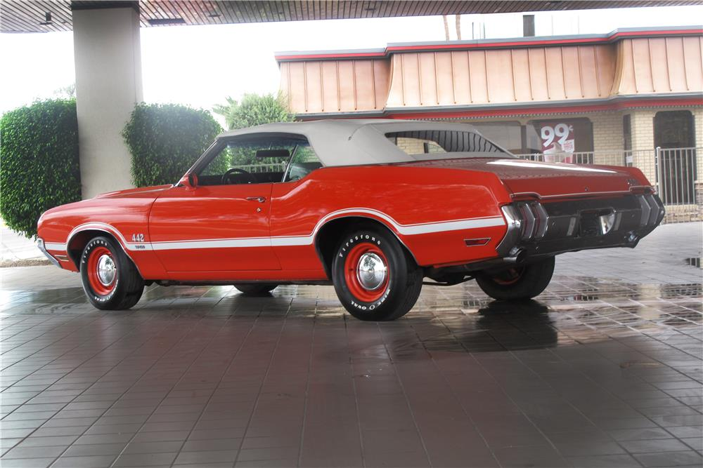 1970 OLDSMOBILE 442 W30 CONVERTIBLE - Rear 3/4 - 183993
