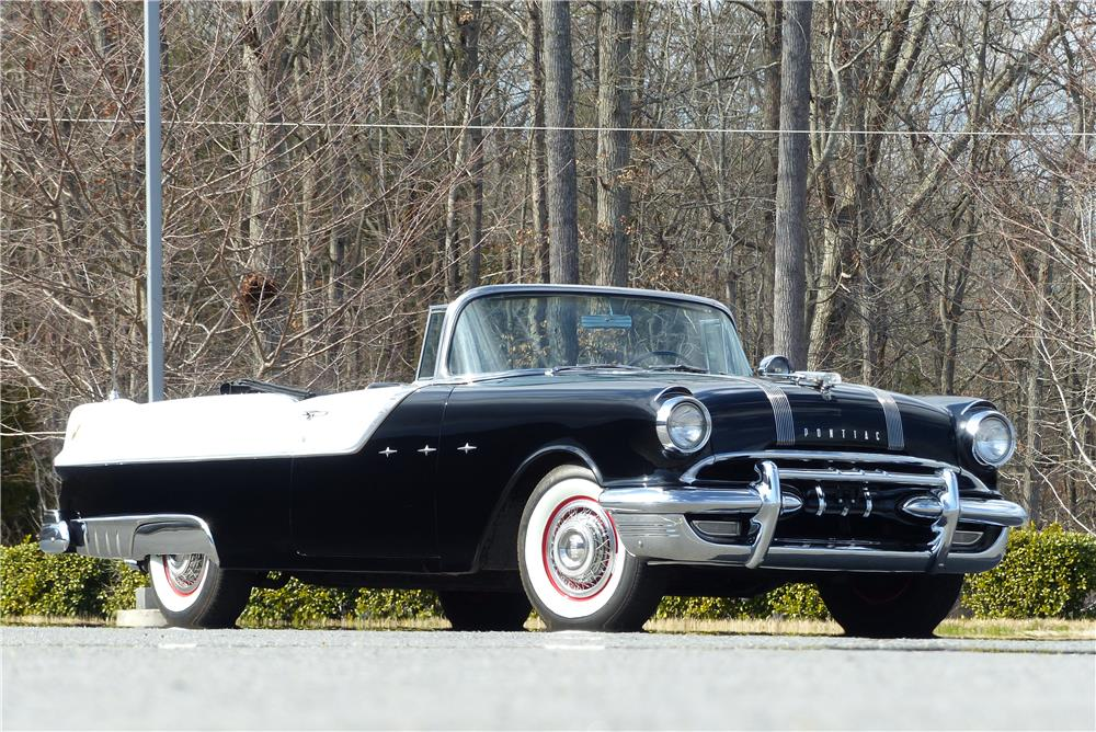 1955 PONTIAC STAR CHIEF CONVERTIBLE - Front 3/4 - 183997