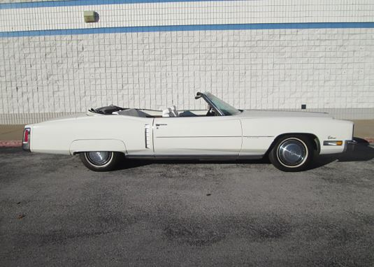 1972 CADILLAC ELDORADO CONVERTIBLE - Side Profile - 184003