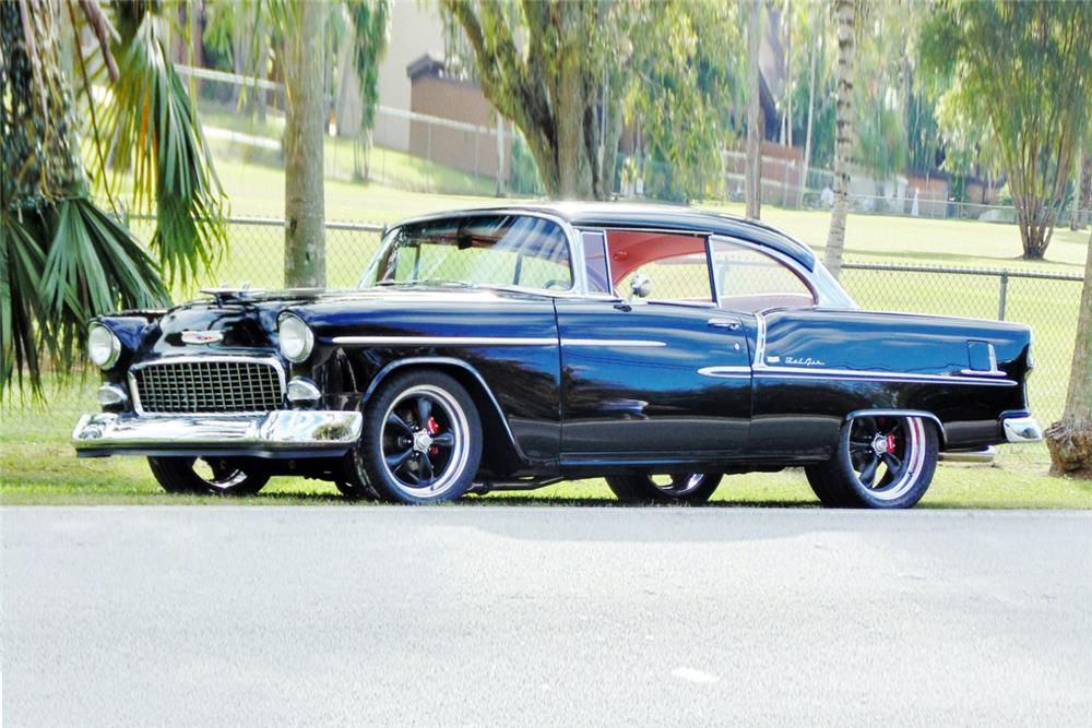 1955 CHEVROLET BEL AIR CUSTOM - Front 3/4 - 184031
