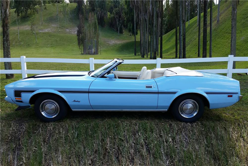 1973 FORD MUSTANG CONVERTIBLE - Side Profile - 184056