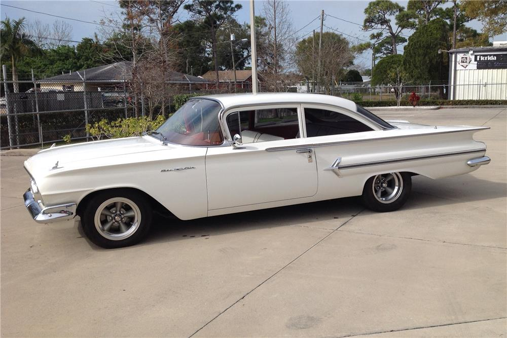 1960 CHEVROLET BEL AIR CUSTOM - Side Profile - 184074