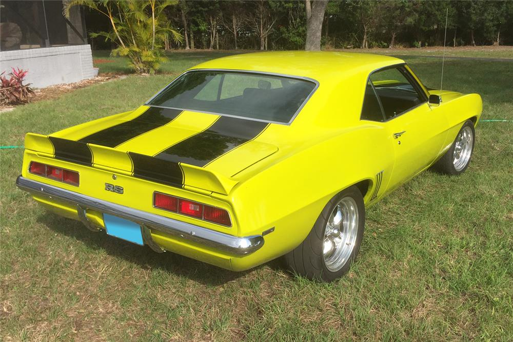 1969 CHEVROLET CAMARO CUSTOM - Rear 3/4 - 184081
