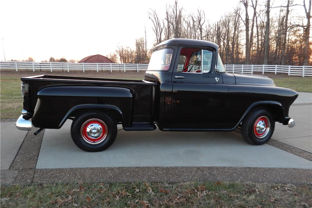 1957 CHEVROLET 3100 PICKUP - Side Profile - 184094