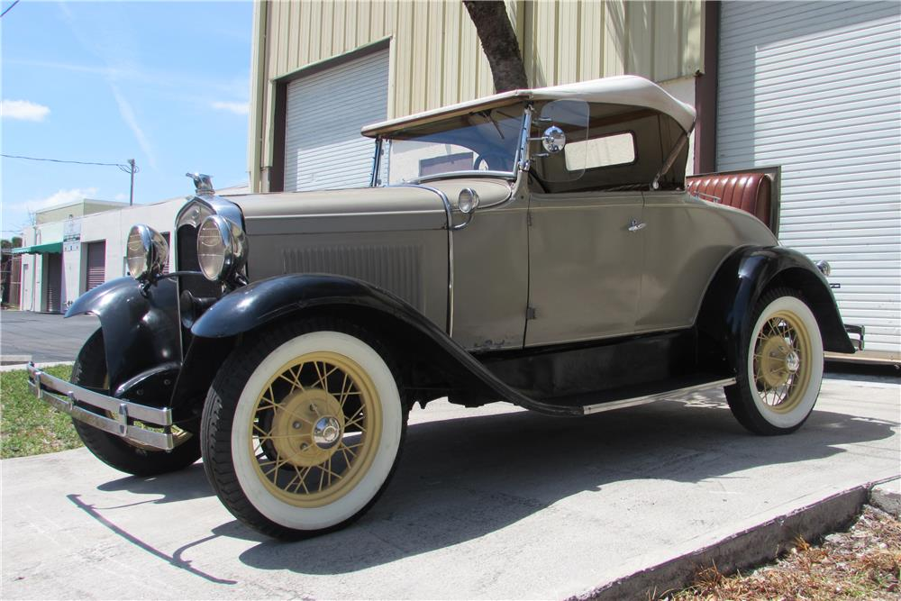 1930 FORD MODEL A ROADSTER - Side Profile - 184184