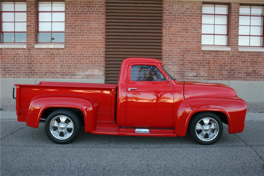 1955 FORD F-100 CUSTOM PICKUP - Side Profile - 184203