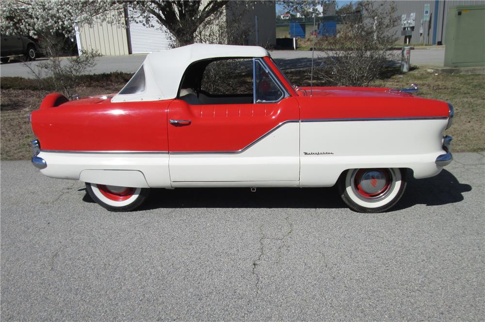 1960 NASH METROPOLITAN CONVERTIBLE - Side Profile - 184222
