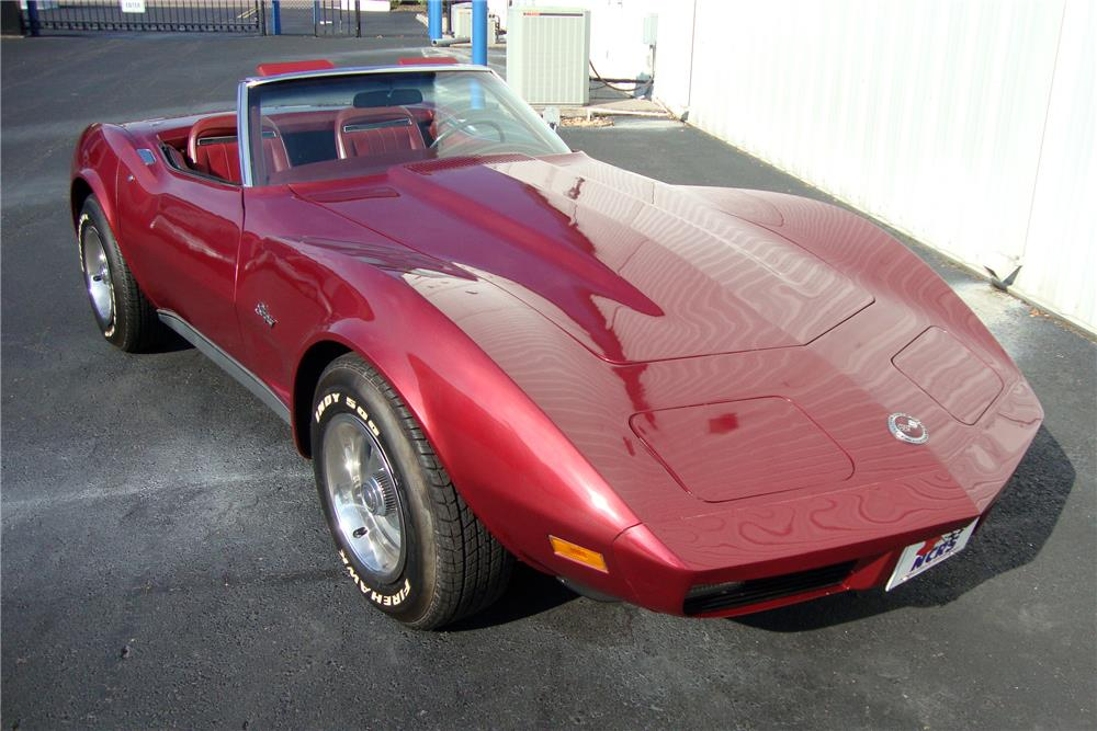 1974 CHEVROLET CORVETTE CONVERTIBLE - Front 3/4 - 184237