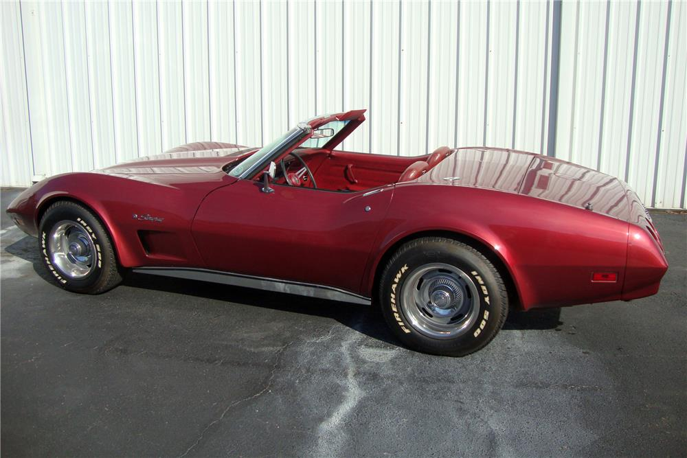 1974 CHEVROLET CORVETTE CONVERTIBLE - Side Profile - 184237