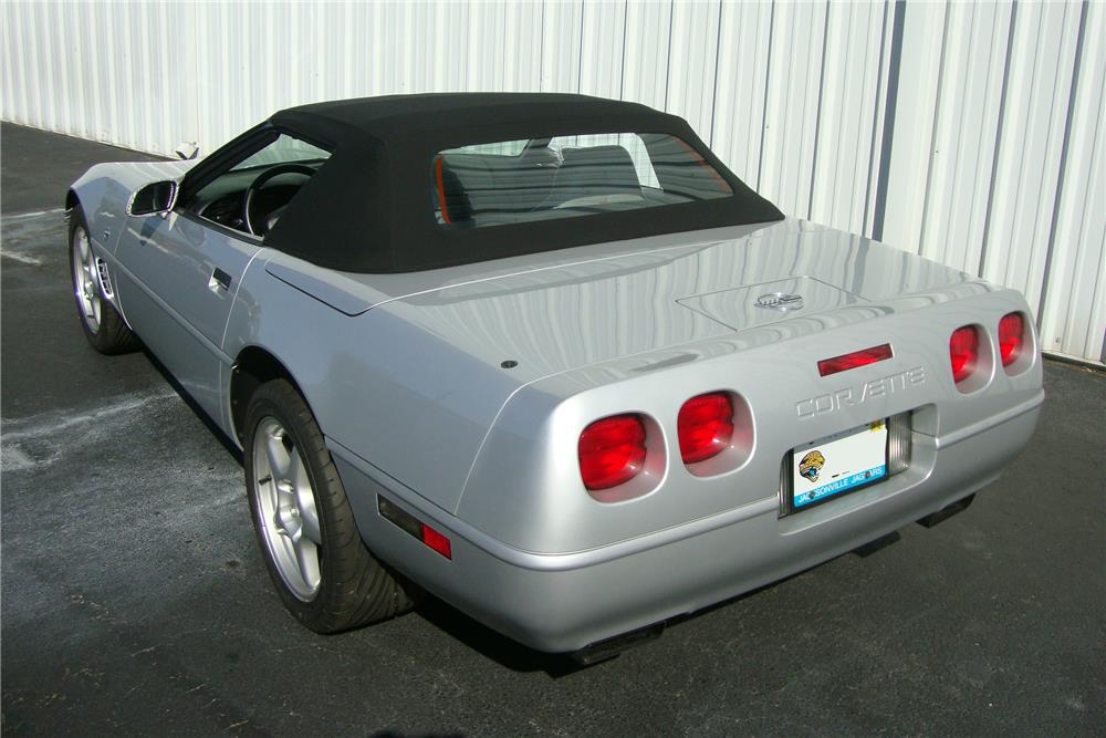 1996 CHEVROLET CORVETTE CONVERTIBLE - Rear 3/4 - 184239