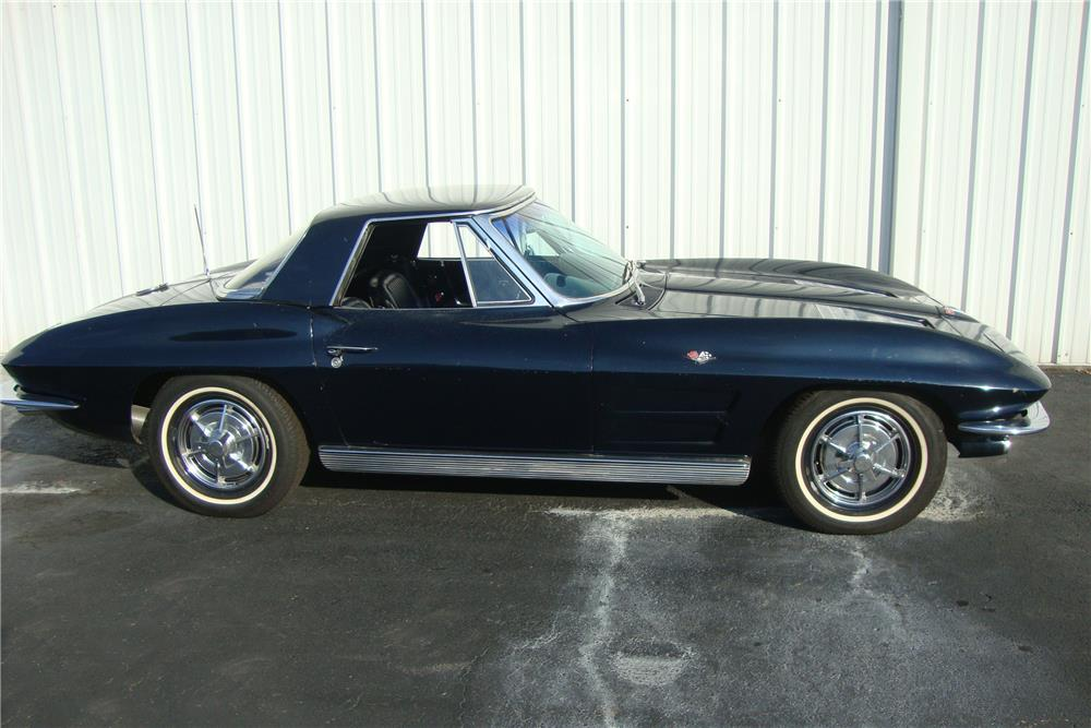 1963 CHEVROLET CORVETTE CONVERTIBLE - Side Profile - 184242