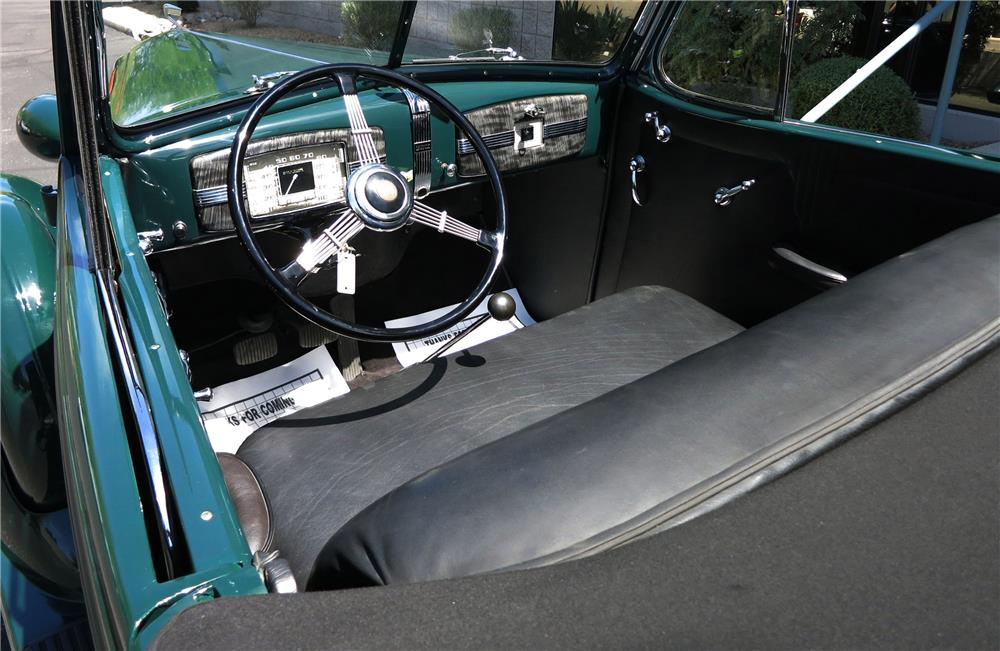 1936 BUICK SPECIAL CONVERTIBLE - Interior - 184285