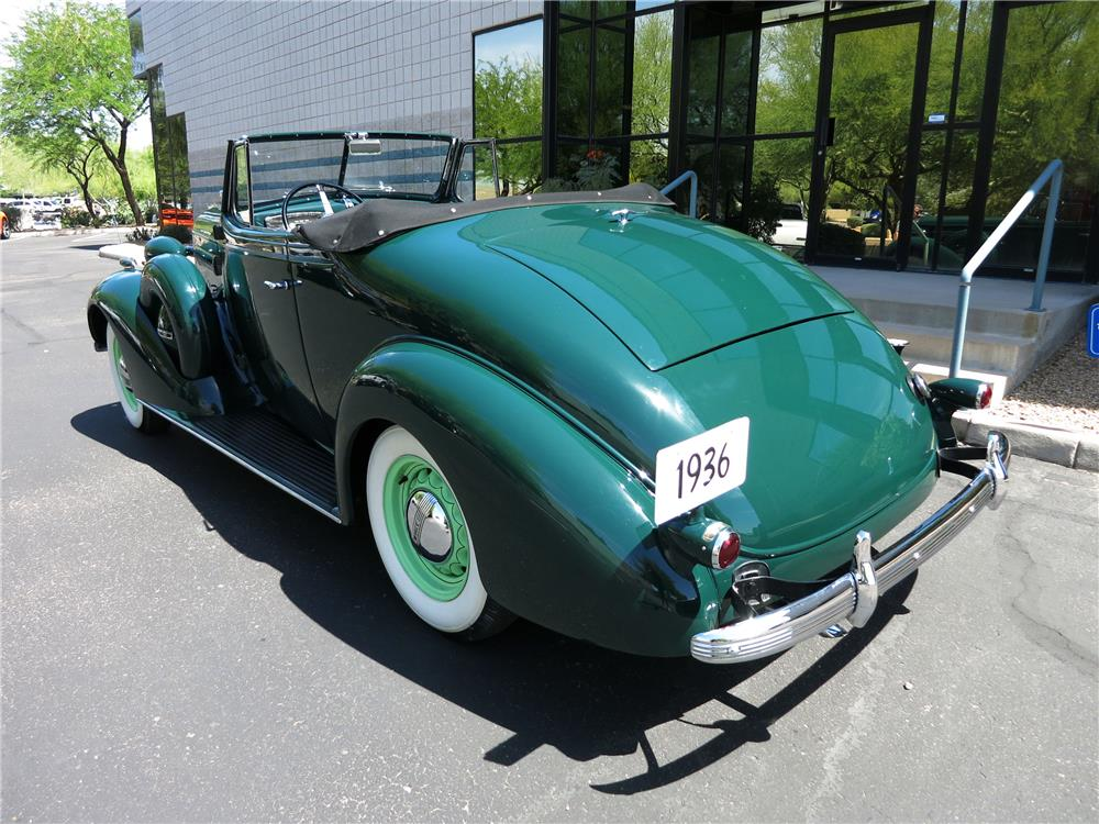 1936 BUICK SPECIAL CONVERTIBLE - Rear 3/4 - 184285