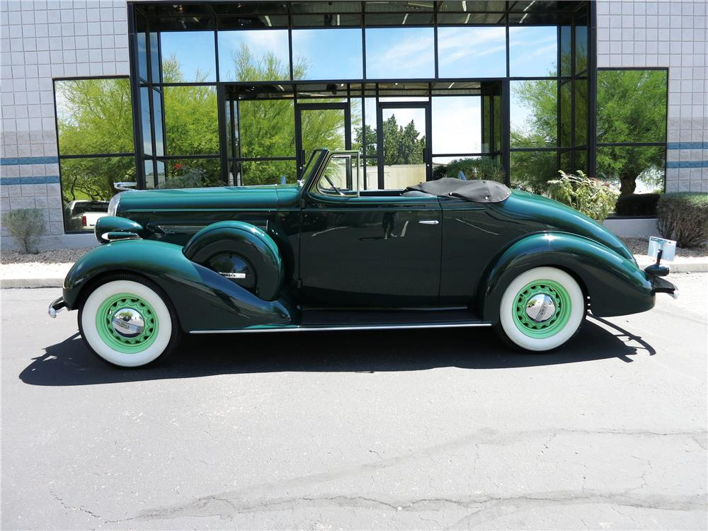 1936 BUICK SPECIAL CONVERTIBLE - Side Profile - 184285